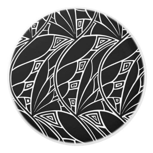 Black and white deco design cabinet knobs ceramic knob Black knobs on white cabinets