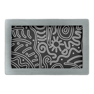 Black and white decor belt buckle