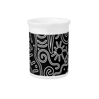 Black and white decor drink pitcher
