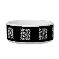 Black and White Decorative Damask Motif Bowl