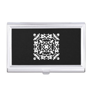 Black and white damask motif business card holders cases zazzle black and white decorative damask motif business card case colourmoves
