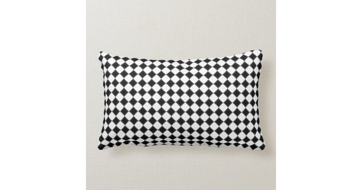 Black and White Decorative Pillow Zazzle