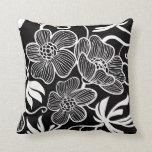 Black and White Decorative Pillow