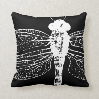 black and white decorative pillow dragonfly - Black And White Decorative Pillows