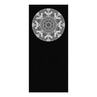 Black and White Decorative Round Pattern. Rack Card