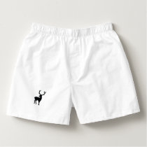 Black and white deer boxers