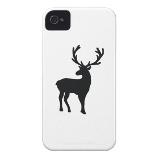 Black and white deer iPhone 4 case