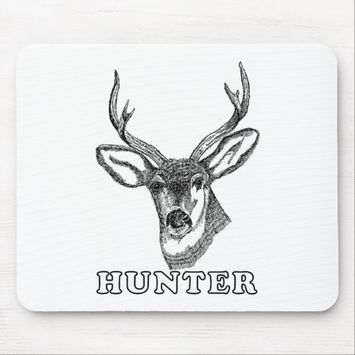 Black and White Deer Mouse Pad