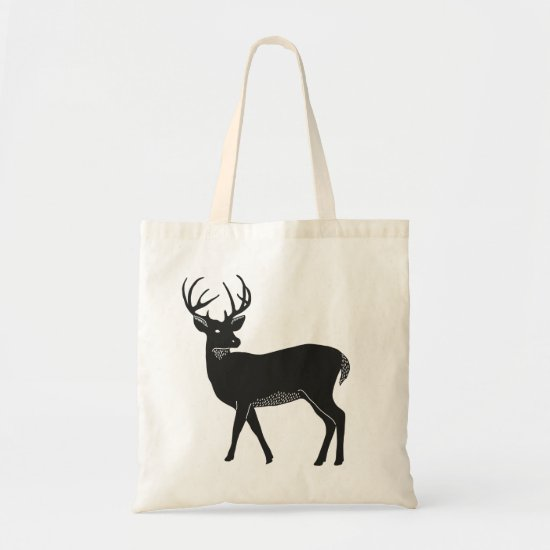 Black and White Deer Tote
