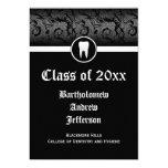 Black and White Dental School Graduation 5x7 5x7 Paper Invitation Card