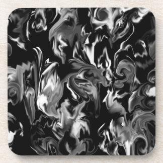 Black and White design mixed clolor coaster
