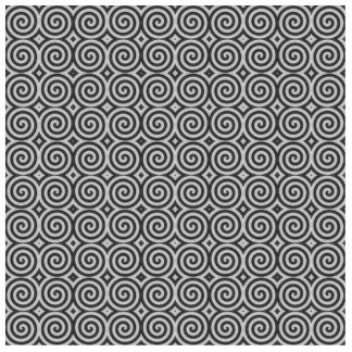 Black and white design. Pattern of Spirals. Cutout