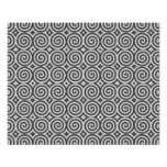Black and white design. Pattern of Spirals. Personalized Flyer