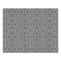 Black and white design. Pattern of Spirals. Flyer