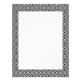 Black and white design. Pattern of Spirals. Letterhead
