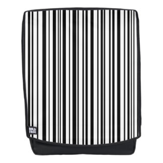 Black and white designer stripes - High Quality Backpack