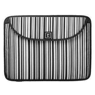 Black and white designer stripes - High Quality MacBook Pro Sleeve
