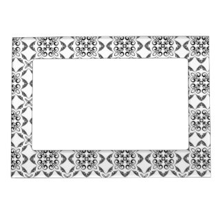 Black and White Detailed Pattern Magnetic Picture Frame