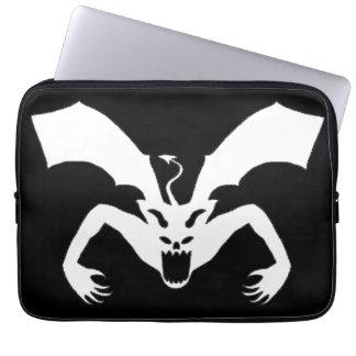 Black And White Devil Laptop Computer Sleeve