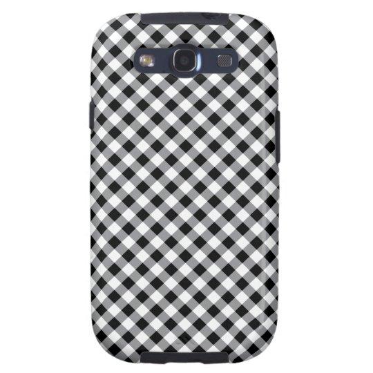 Black and white diagonal Gingham pattern case