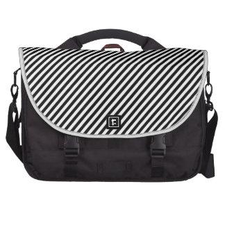 Black and white diagonal stripes. bags for laptop