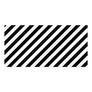 Black and White Diagonal Stripes. Card