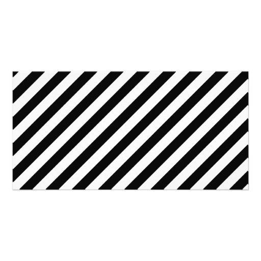 Black and White Diagonal Stripes. Card
