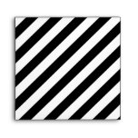 Black and White Diagonal Stripes. Envelope