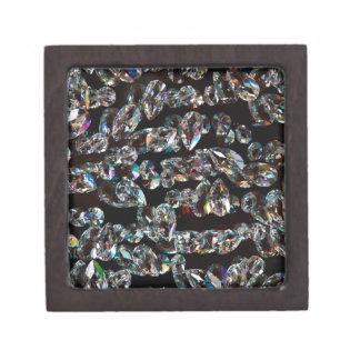 Black and White Diamond - Crystal Gems Print Jewelry Box