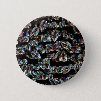 Black and White Diamond - Crystal Gems Print Pinback Button