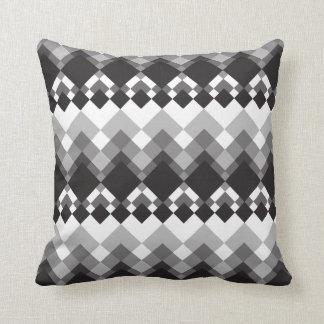 Black and White Diamond Design Throw Pillow