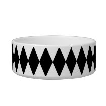 Black and White Diamond Harlequin Pattern Bowl