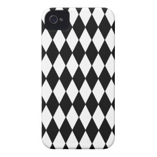 Black and White Diamond Harlequin Pattern Case-Mate iPhone 4 Case
