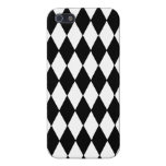 Black and White Diamond Harlequin Pattern Cases For iPhone 5