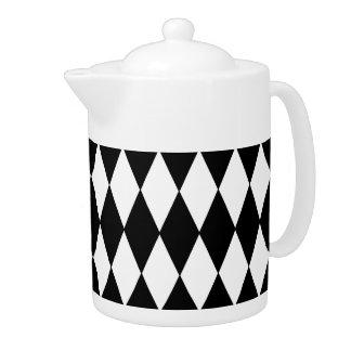 Black and White Diamond Harlequin Pattern