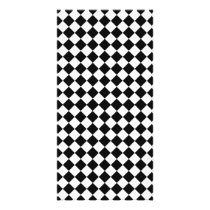 Black and White Diamond Pattern by Shirley Taylor Card
