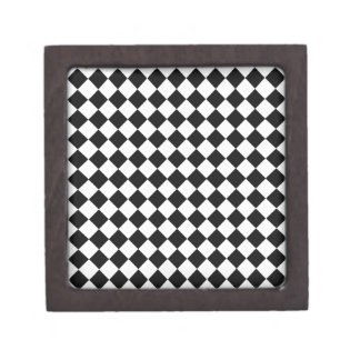 Black and White Diamond Pattern by Shirley Taylor Jewelry Box
