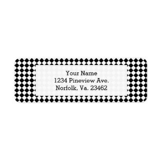 Black And White Diamond Pattern by Shirley Taylor Label
