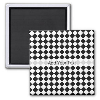Black and White Diamond Pattern by Shirley Taylor Magnet