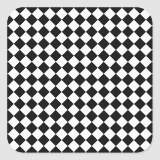 Black And White Diamond Pattern by Shirley Taylor Square Sticker