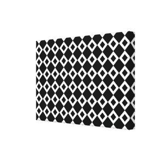 Black and White Diamond Pattern Canvas Print
