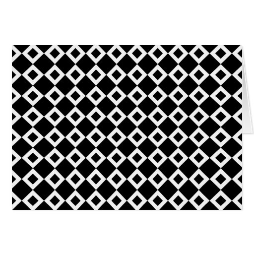 Black and White Diamond Pattern Card