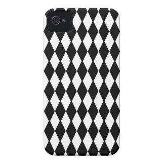Black And White Diamond Pattern Case-Mate iPhone 4 Case