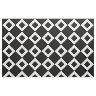 Black and White Diamond Pattern Fabric