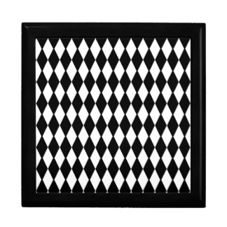 Black And White Diamond Pattern Gift Box