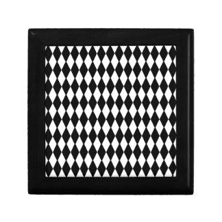 Black And White Diamond Pattern Jewelry Box