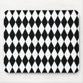 Black and White Diamond Pattern Mouse Pad