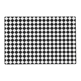 Black And White Diamond Pattern Placemat