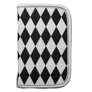 Black and White Diamond Pattern Planners