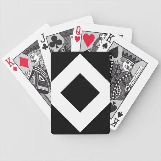 Black and White Diamond Pattern Bicycle Playing Cards